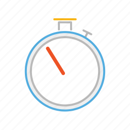 chronometer, line, race, speed, stopwatch, stroke, time, timer icon