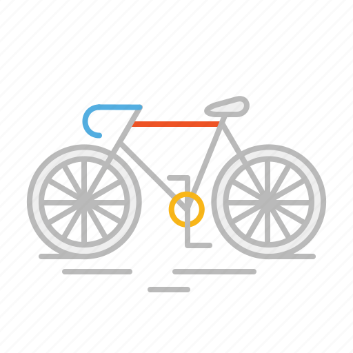 bicycle, bike, cardio, line, mountain bike, race, sport, stroke icon