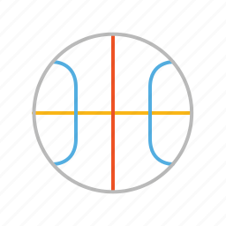 ball, basket, basketball, competition, game, line, match, play, sport, stroke icon