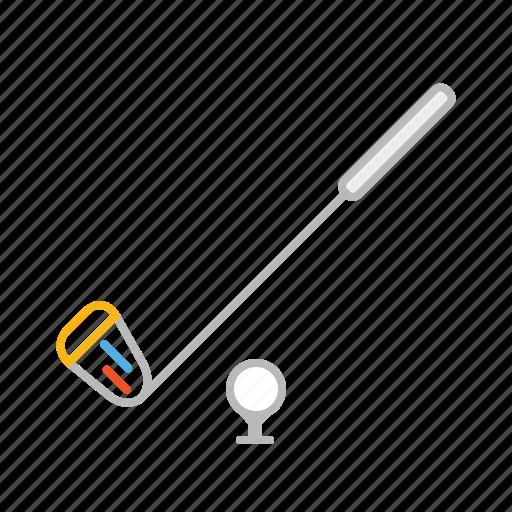 ball, club, competition, game, golf, golf club, golfer, line, sport, stroke icon
