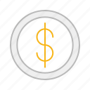 buy, cash, coin, dollar, line, money, pay, poor, rich, stroke icon