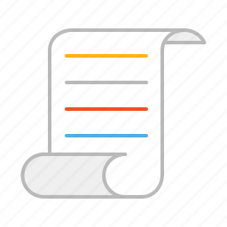 document, email, file, letter, line, message, newsletter, paper, script, stroke, text icon