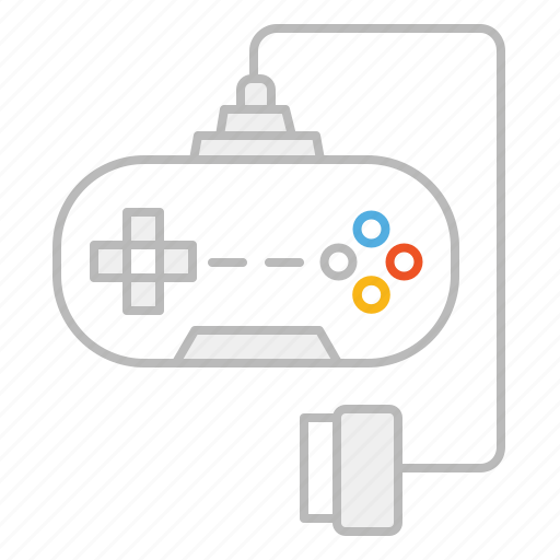 console, game, gamepad, joystick, line, play, playstation, stroke, tv, video, video game, xbox icon
