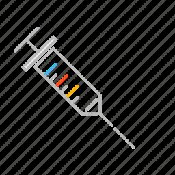 doctor, drug, health, hospital, injection, jab, line, medicine, needle, nurse, stroke icon