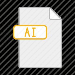 design, document, file, format, illustrator, line, software icon