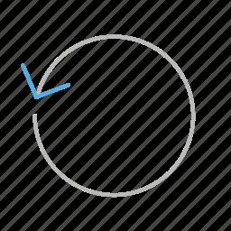 arrow, circle, line, refresh, stroke, update icon
