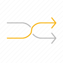 arrow, line, music, playlist, repeat, stroke icon