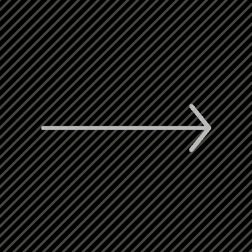 arrow, forward, line, next, right icon