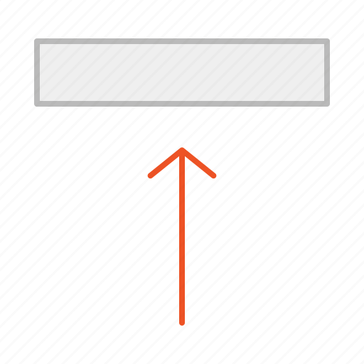 align, align top, arrow, element, line, position, text, up, upload icon
