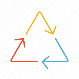 arrow, arrows, line, triangle icon