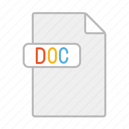 app, doc, document, file, line, word icon
