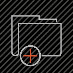 add, create, document, file, folder, line, new icon