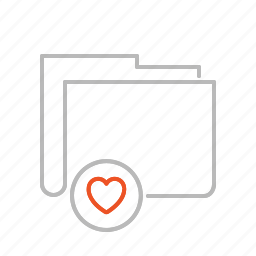 document, favorite, favourite, file, folder, heart, line, love icon