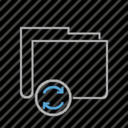 document, file, folder, line, refresh, update icon