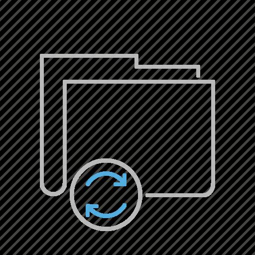 Update, refresh, file, folder, document, line icon - Download on Iconfinder