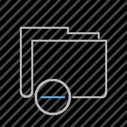 delete, document, file, folder, line, minus, remove icon