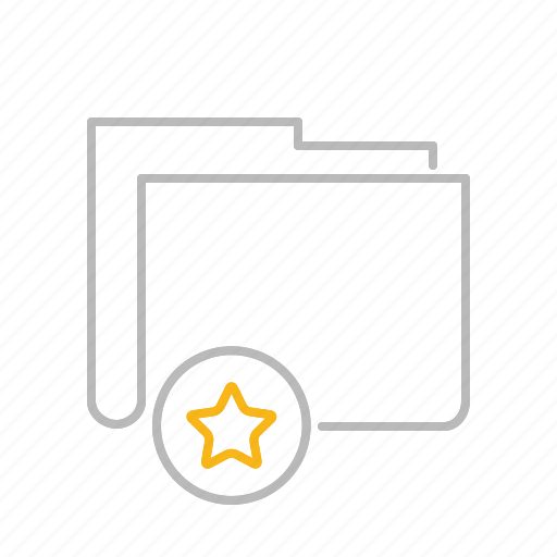 app, document, file, folder, line, premium, star, web icon