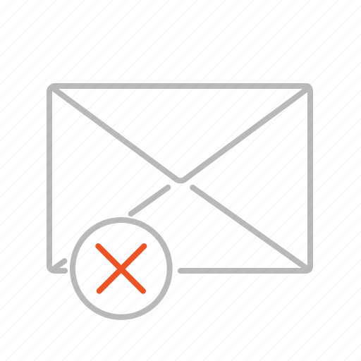 close, communication, delete, email, line, mail, message, remove icon