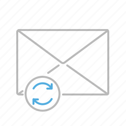 communication, email, line, mail, message, refresh, update icon