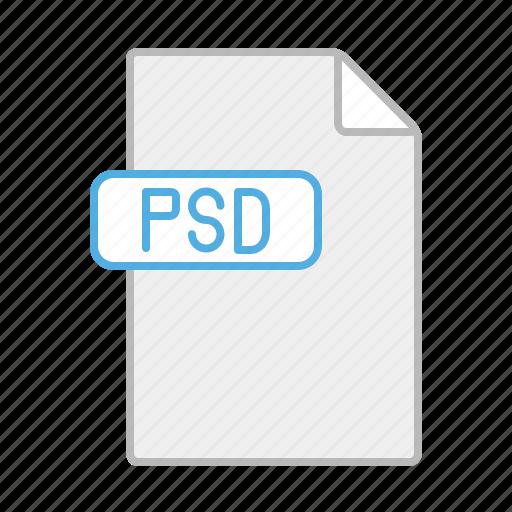 design, document, file, line, photoshop, psd, software icon
