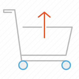 buy, cart, customer, empty, line, shop, shopping, shopping cart, store, supermarket, trolley icon