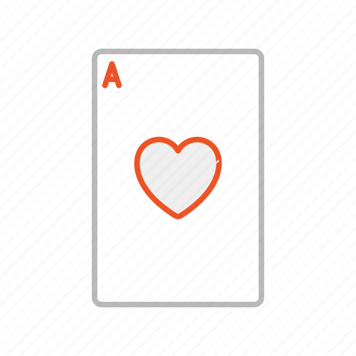 ace, blackjack, card, game, heart, line, play, poker, win icon