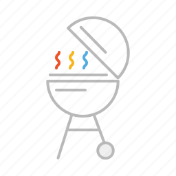 barbecue, bbq, beef, food, grill, line, pork, sausages, steak icon