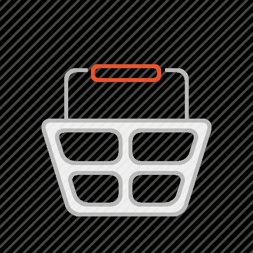 basket, buy, line, market, purchase, shop, shopping, shopping basket, store, supermarket icon