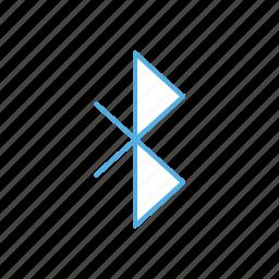 bluetooth, line, signal icon