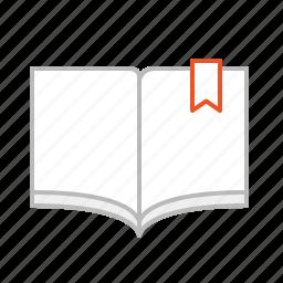 book, line, read icon