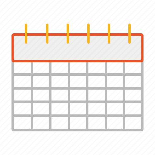 agenda, calendar, line, planning icon