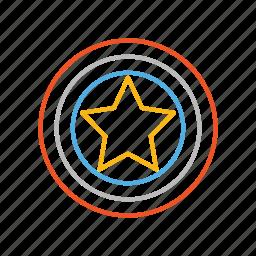 america, captain, captain america, hero, line, marvel, shield icon