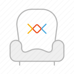 chair, furniture, line, relax, sit, sofa icon