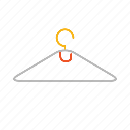 cloth, cloth hanger, hanger, line icon