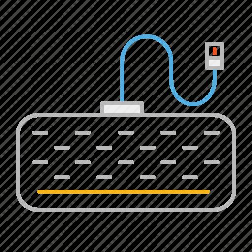 device, keyboard, keypad, line, usb icon