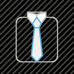 business, cloth, line, shirt, suit, tie icon