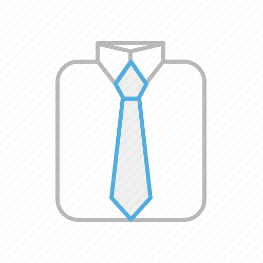 business, cloth, line, shirt, suit, tie icon