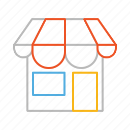 house, line, shop, shopping, store, supermarket icon