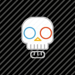 bone, dead, death, line, skull icon