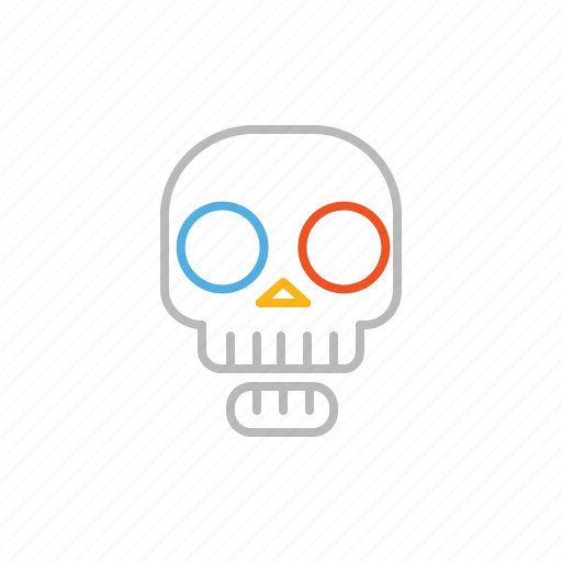 bone, dead, death, line, skull icon