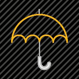 line, protection, rain, umbrella icon