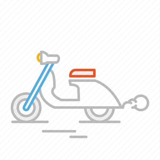 bike, drive, line, moto, motorbike, scooter, transport, vespa icon