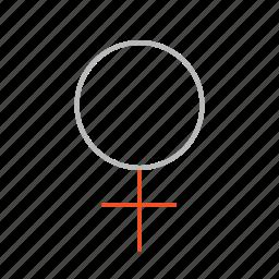 female, girl, line, sex, woman icon
