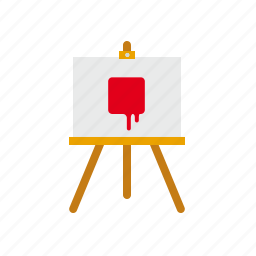 art, canvas, easel, painting icon