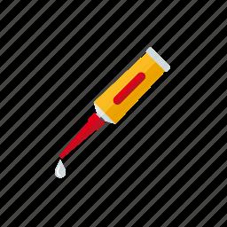 art, glue, tool, tube, utensil icon