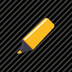 felt, highlighter, marker, neon, pen, tip icon