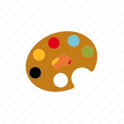 art, artist, blending, paint, palette, utensil icon