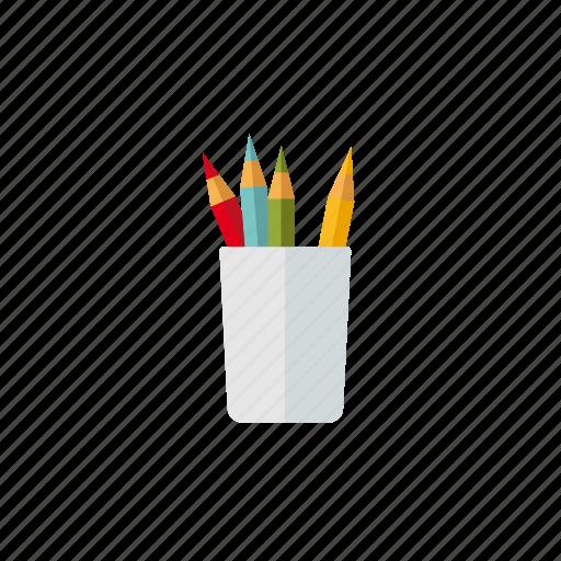 art, crayon, drawing, mug, pencil icon