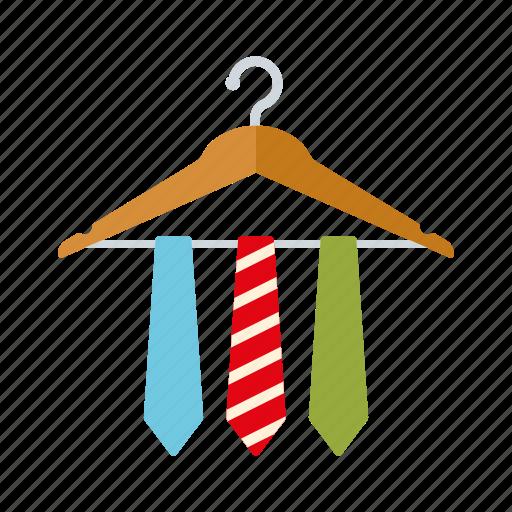 accessories, cloth hanger, clothing, fashion, men's wear, ties, wardrobe icon