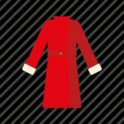 clothing, coat, fashion, garment, wardrobe, winter coat, women's wear icon